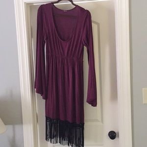 Fabulous dress with fringe-bottom